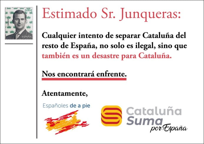 Haz llegar tu postal a Junqueras